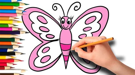 How To Draw Butterfly Step By Step, Coloring Book With
