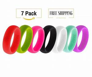 7 silicone wedding rings for women athletic flexible With athletic wedding rings