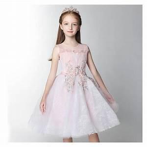 Robe De Demoiselle D Honneur Fille : robe blanche et rose de c r monie demoiselle d 39 honneur ~ Mglfilm.com Idées de Décoration