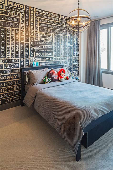 accent wall ideas contemporary bedroom peter  seller