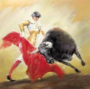 Reproduction Tableau Sur Toile : reproduction de tableaux sur toile torero et taureau 6 ~ Dailycaller-alerts.com Idées de Décoration