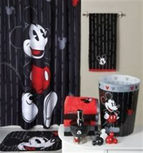 Cheap Disney Bathroom Sets by Mickey Mouse Bathroom Set Shower Curtain Bath Rug Hooks 2