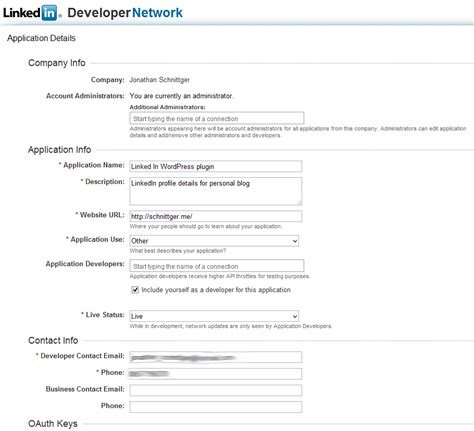 oauth2 and the linkedin api a cv r 233 sum 233 plugin