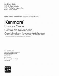 Kenmore 41761712510 User Manual Laundry Center Manuals And