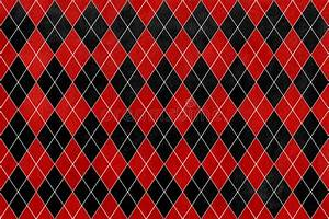 Vintage Watercolor Red And Black Diamond Pattern. Stock ...