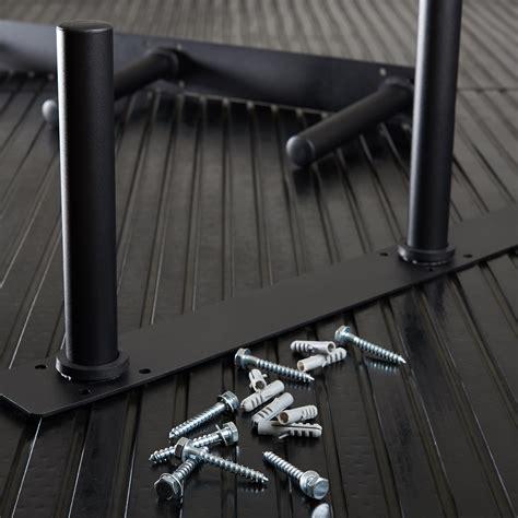 mirafit olympic weightbumper plate wall storage rack gym studio mounted poles ebay