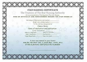 star naming certificate templates 15 free official With star naming certificate template