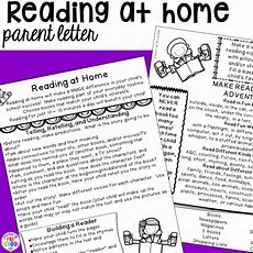 Reading Logs & Parent Letter (homework For Preschoolers)  Pocket Of Preschool