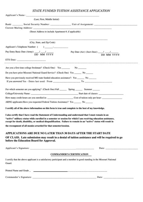 top 6 army tuition assistance form templates free to