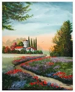 Bilder Bäume Gemalt : abendrot in der toskana mohn weg lila wiese von doroty bei kunstnet ~ Orissabook.com Haus und Dekorationen