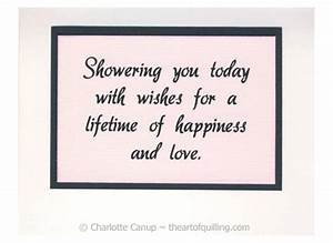 Wedding shower wishes quotes quotesgram for Images of wedding shower cards