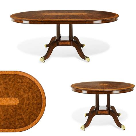 48 kitchen table with leaf 48 inch to oval walnut and yew banded dining table