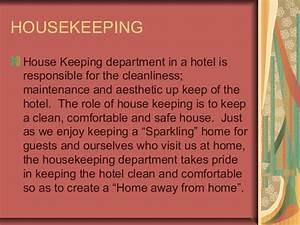 Hk, in brief HOUSEKEEPING IN HOTELS
