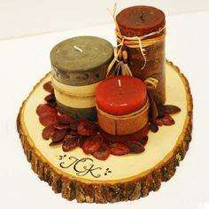images  log centerpieces  pinterest logs