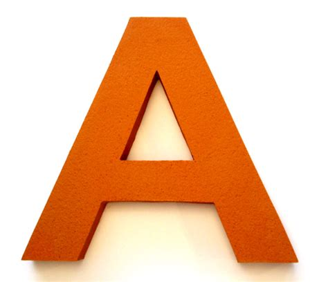 The Gallery For > Orange Letter A