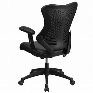 Black, High, Back, Leather, Chair, Bl