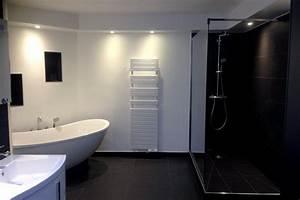 Carrelage Noir Salle De Bain : meilleur carrelage salle de bain avec carrelage noir ~ Dailycaller-alerts.com Idées de Décoration