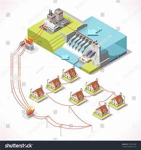 Hydroelectric Power Plant Factory Electric  Water Power