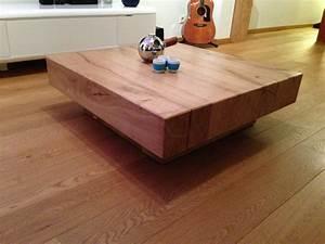 Made Com Table Basse : table basse chene massif design ~ Dallasstarsshop.com Idées de Décoration