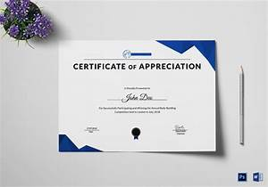 certificates of appreciation templates for word certificate of appreciation template 38 free word pdf
