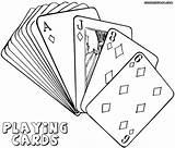 Playing Coloring Cards Poker Jawar Getdrawings Drawing sketch template