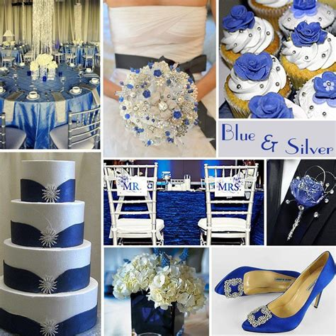 blue and silver theme blue and silver color theme wedding