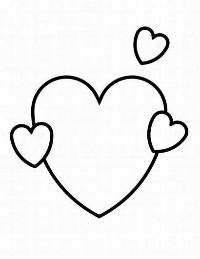 Coloring Valentine Pages Hearts Heart