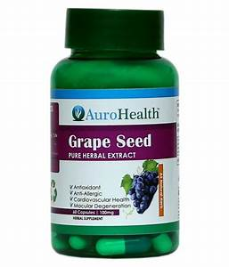 Aurohealth Grape Seed Extract Naturals Super Food  100mg  Capsule 60 No S  Buy Aurohealth Grape