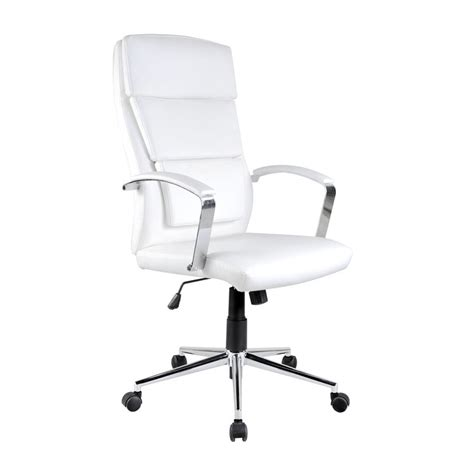 fauteuil de bureau blanc fauteuil de bureau en simili cuir blanc aurelia