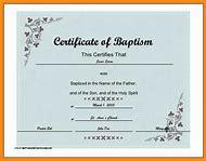 Best Baptism Certificate