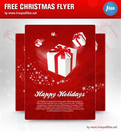 christmas flyer psd template free psd files