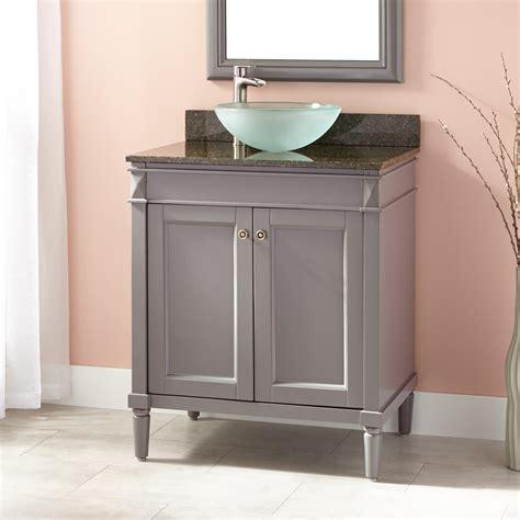 """30"""" Chapman Vessel Sink Vanity  Gray  Bathroom. Exterior House Cleaning. Front Door Window Treatments. Toilet Measurements. Black Bathroom Light Fixtures. Mirrored Tile. Metal Ice Chest. Kitchen Carpet. Mid Century Kitchen Table"""
