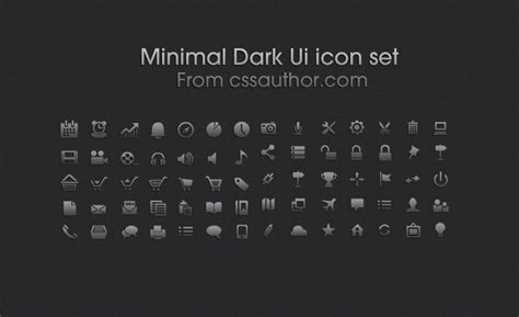 template of a resume minimal ui icon set icons fribly 25063 | Minimal Dark Ui icon set From cssauthor