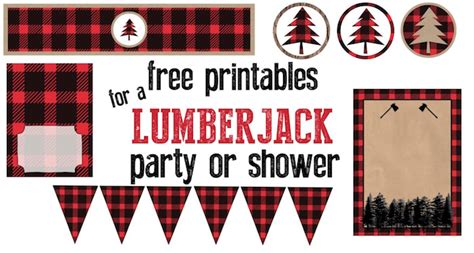 lumberjack party  printables paper trail design