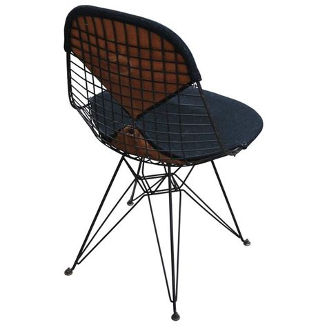early eames herman miller black modern wire chair