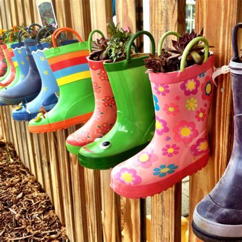 Rain Boot Planters House Pinterest
