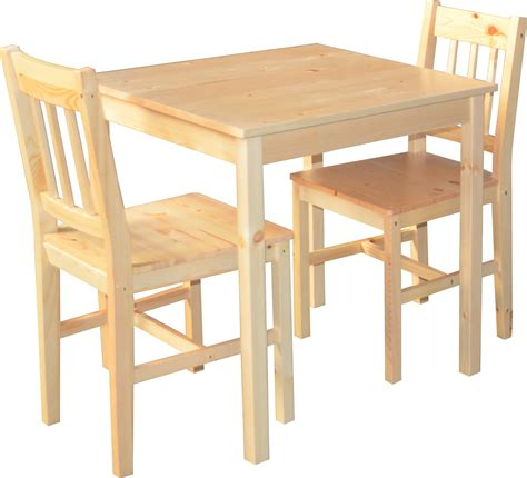 table cuisine 2 personnes ensemble table 2 chaises en pin naturel palazzo coin