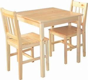 Ensemble Chaise Et Table : ensemble table 2 chaises en pin naturel palazzo coin ~ Dailycaller-alerts.com Idées de Décoration