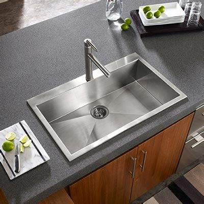zero radius kitchen sink houzer stainless steel zero small radius kitchen sinks 1709