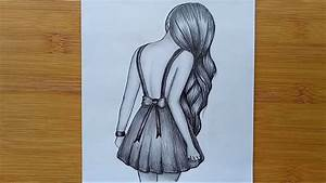 How To Draw A Girl With Pencil Sketch Step By Step