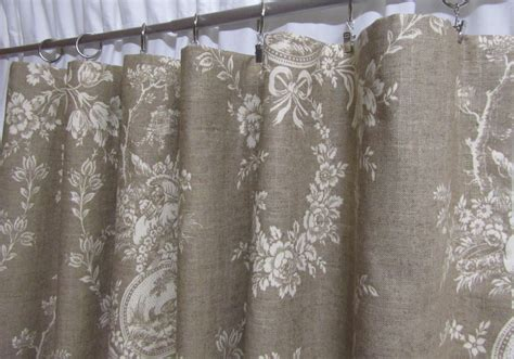 country curtains neutral toile drapes linen colored