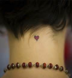 Small Heart Neck Tattoos for Women