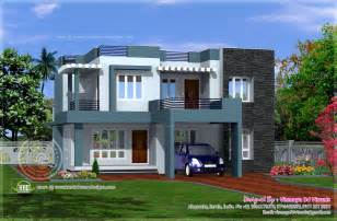 simple houseplans simple contemporary style villa plan kerala home design