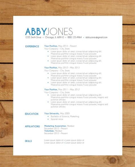 Modern Resume Template 2014 by Top Resume Formats In 2014