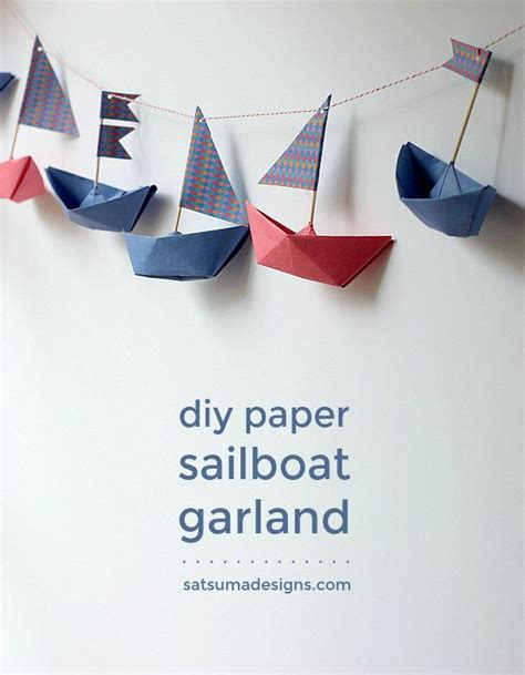 Origami Boat Garland by Best 25 Nautical Ideas On Nautical