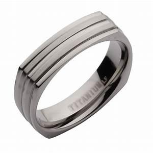 5mm titanium square shaped wedding ring band titanium With wedding ring square