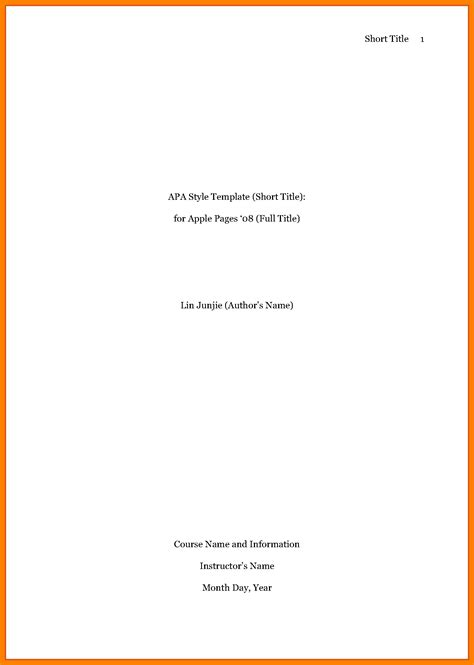 Apa Format Title Page 8 Apa Format Cover Page Essay Checklist