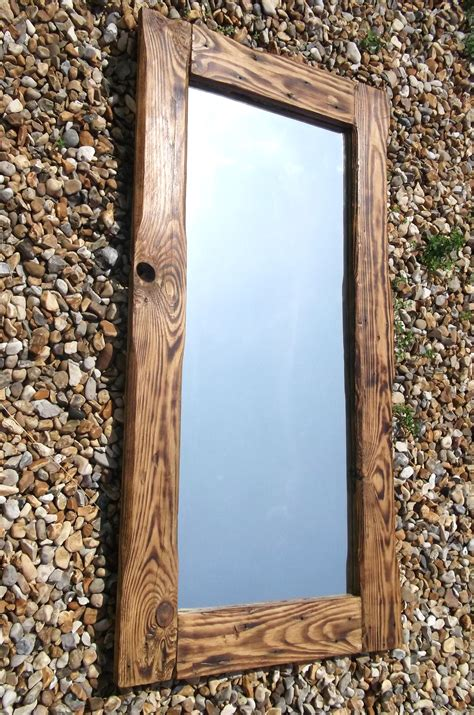 with wooden frame reclaimed wood mirrors dave s hut