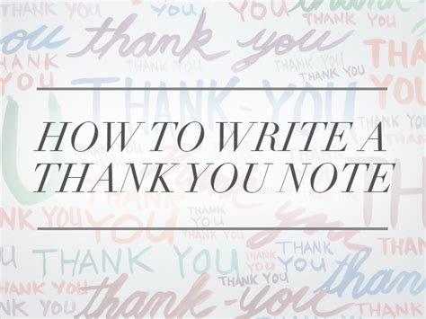 How To Write A Thank You Note (a Real One