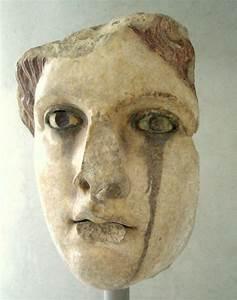 Marble head of goddess, perhaps Aphrodite/Venus - gold and ...